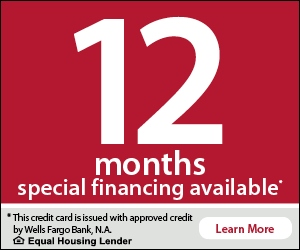 12 months special financing available